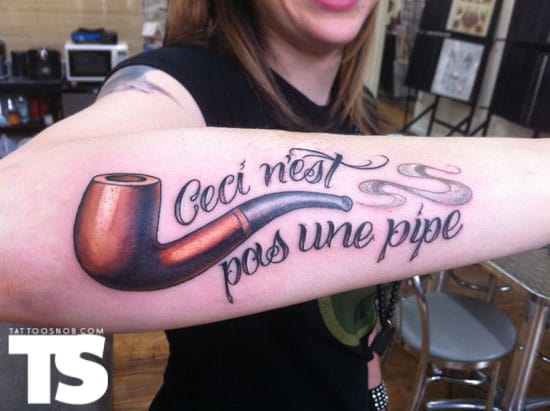 Pipe Tattoo by Jon Mesa