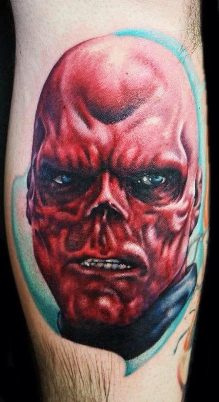Red Skull tattoo by Justin Mariani