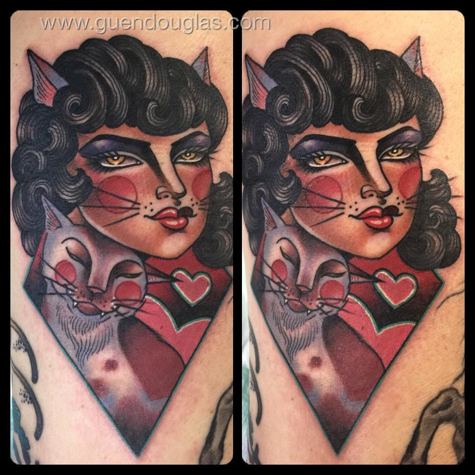 15 Lovely Traditional Tattoos By Guen Douglas