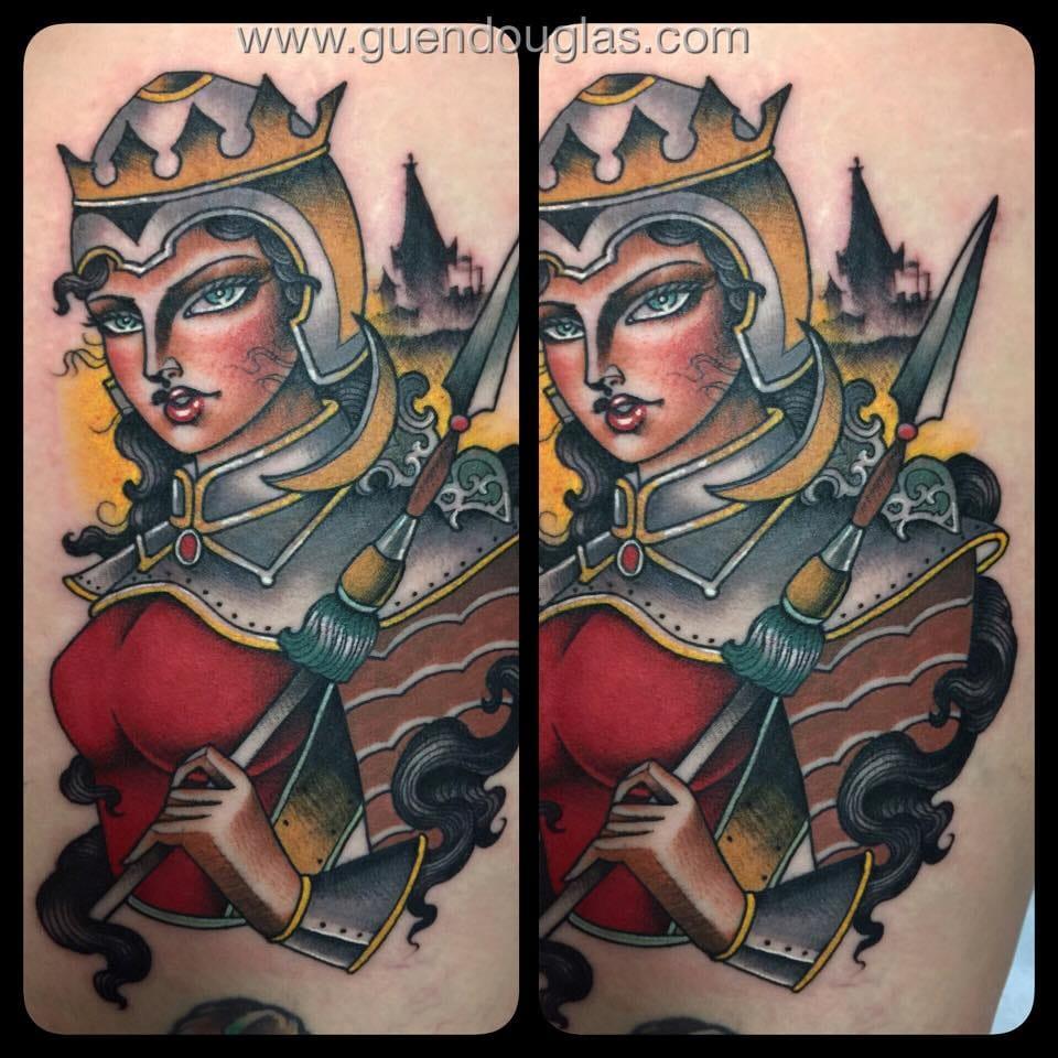 Badass female knight.