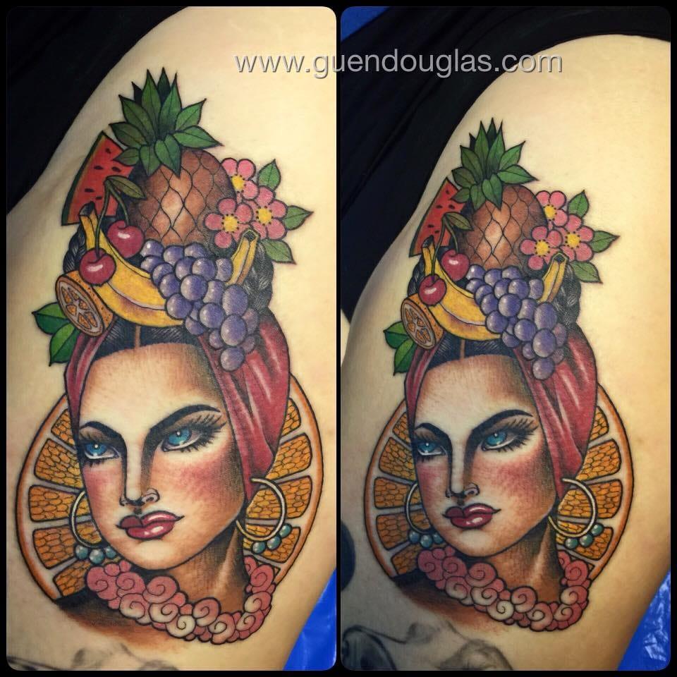 Exotic fruit lady.