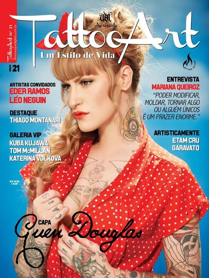 Portrait of Guen Douglas on a magazine cover by Foto Floor.