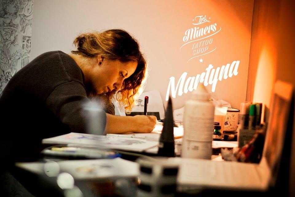 Martyna Popiel at work.