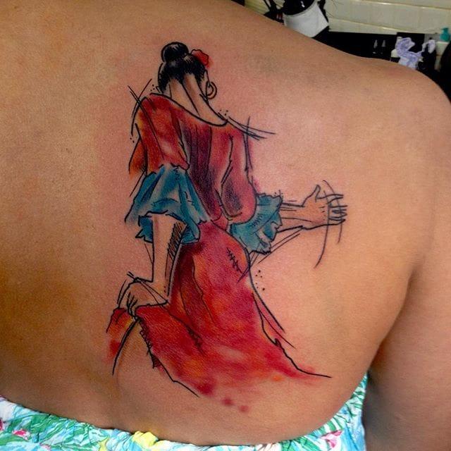 Flamenco dancer by Sandro Secchin Simão.