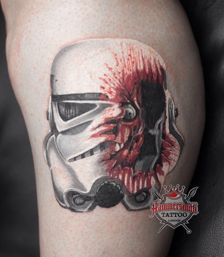 Bloody Helmet by Hammersmith Tattoo