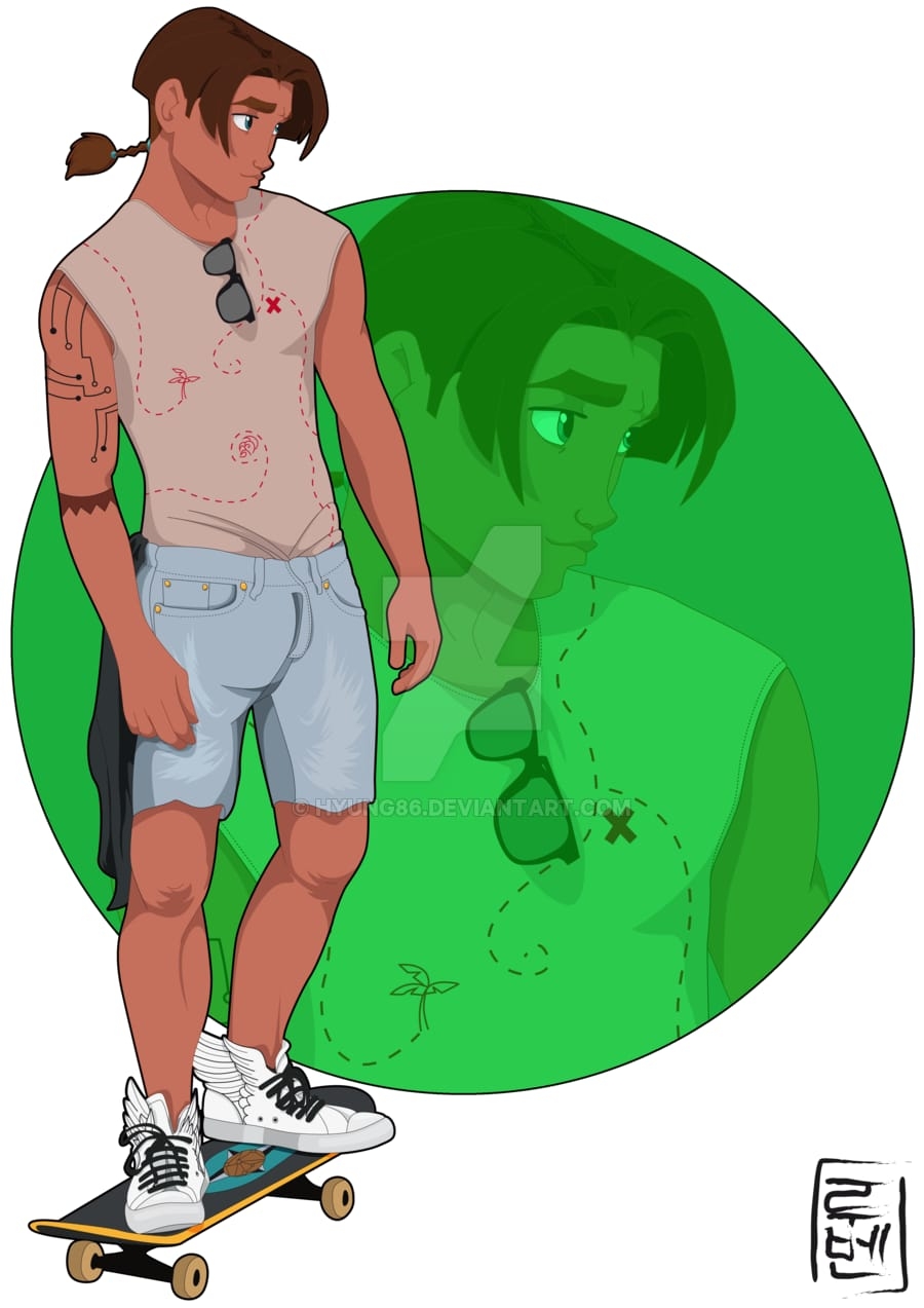 Tarzan's best friend and fellow skater, Jim of Treasure Planet.