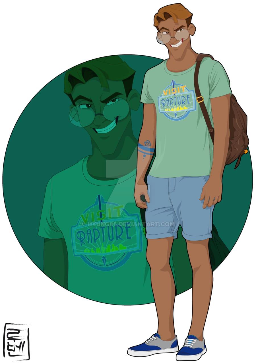 Atlantis' Milo as an Archeology student.