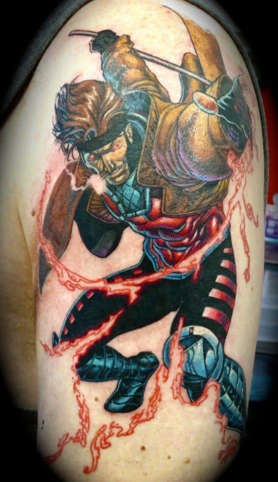 Gambit Tattoo by Christabel Nolan