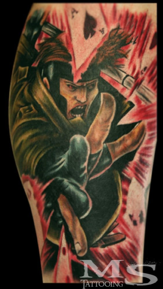 Vibrant Gambit Tattoo by MS Tattooing