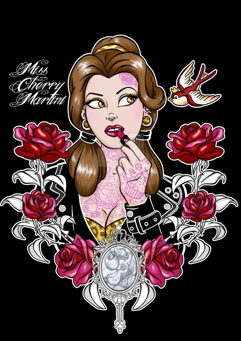 Hard rock Belle by Miss Cherry Martini.