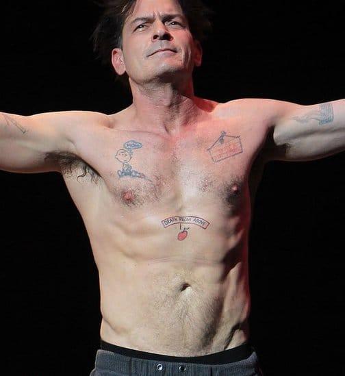 Charlie Sheen's Crazy Tattoos