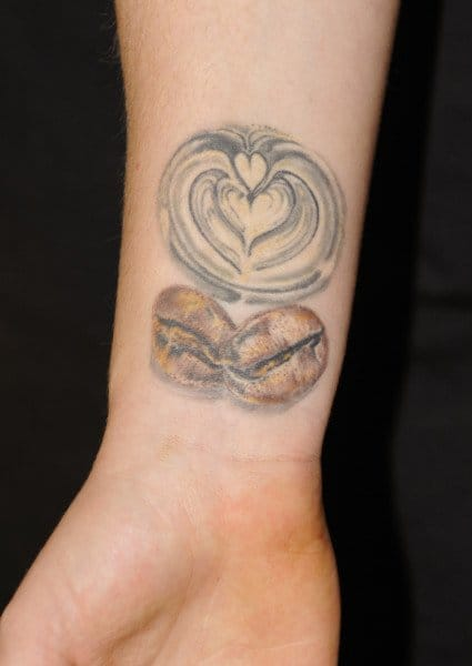 Lucy White's Coffee Tattoos(Picture: Malcolm Wells)