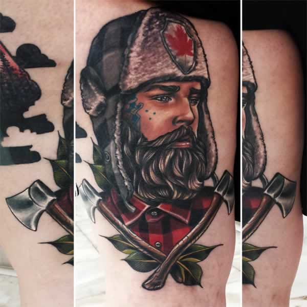 20 Robust Lumberjack Tattoos