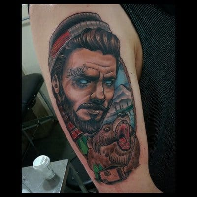 Awesome Neo-Traditional Piece by Jethro Wood
