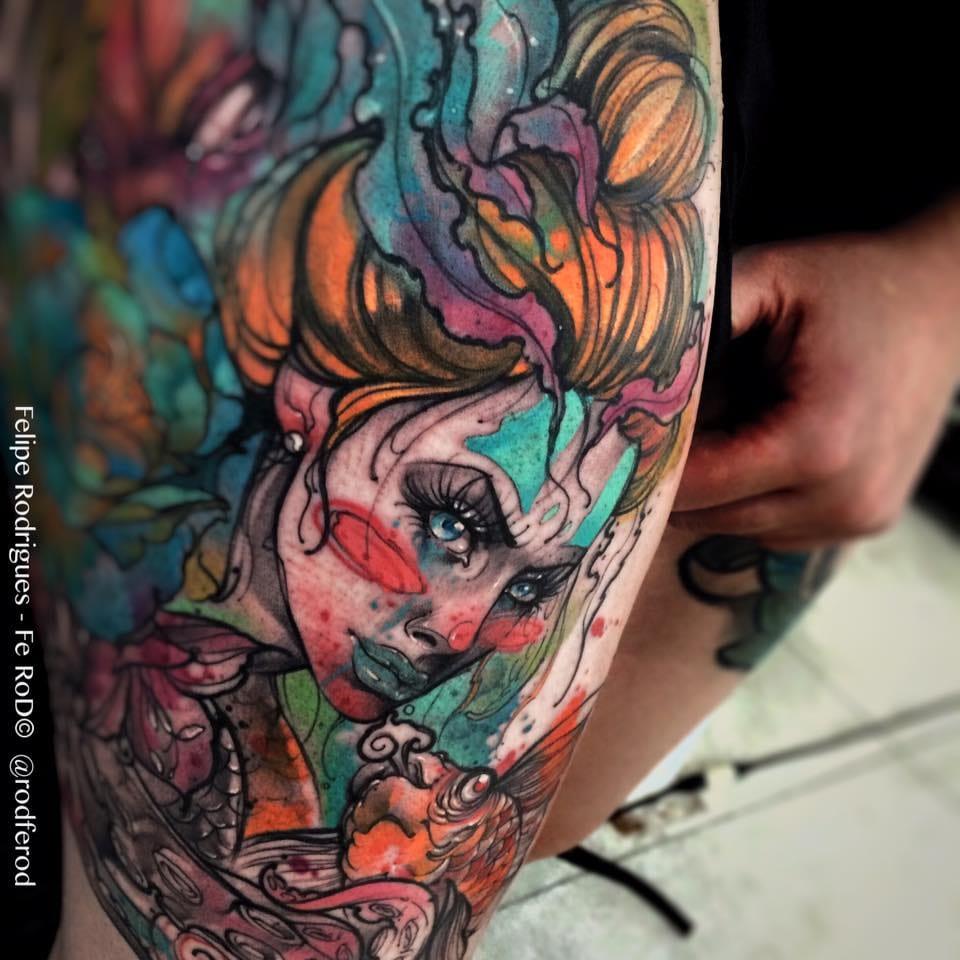 Felipe Rodrigues E 16 Tatuagens Exclusivas Mega Coloridas