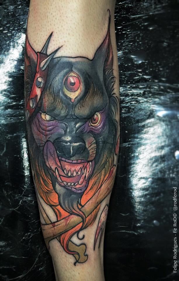 Lobo com um olho na testa