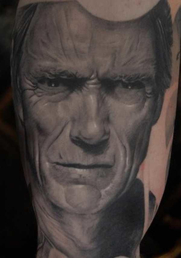 Stunning portrait of Clint Eastwood...