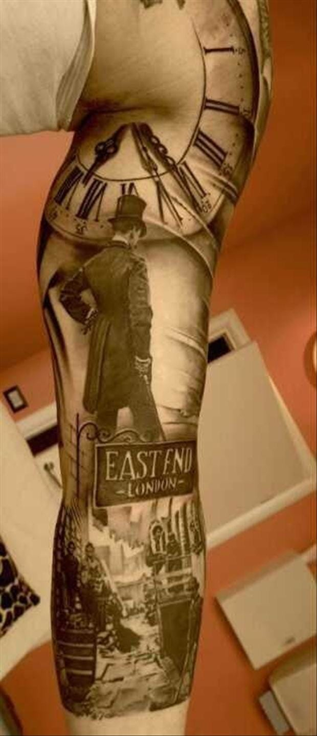 Breathtaking photorealistic East End sleeve by Matteo Pasqualin.