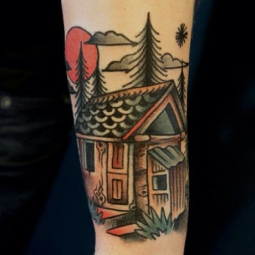 Great Cabin Tattoo by Dane Mancini