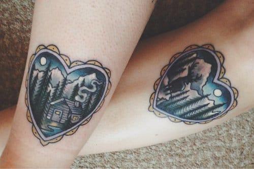 Heart Cabin Tattoo, unknown artist