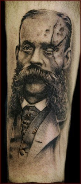 Spooky Victorian man portrait by Jason Butcher.