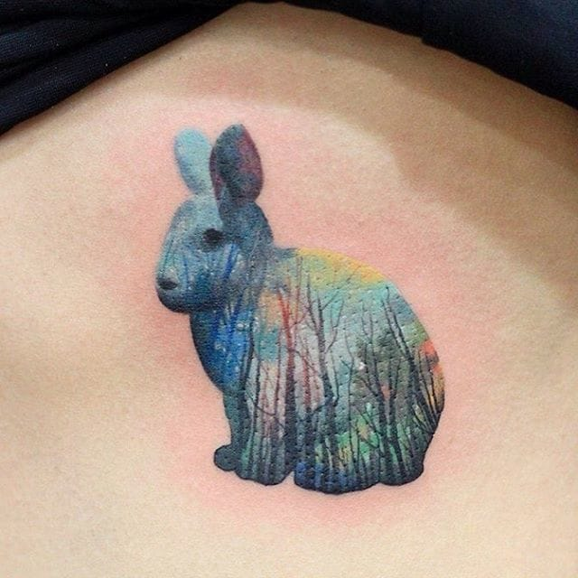 Another cute bunny by Justice Ink.