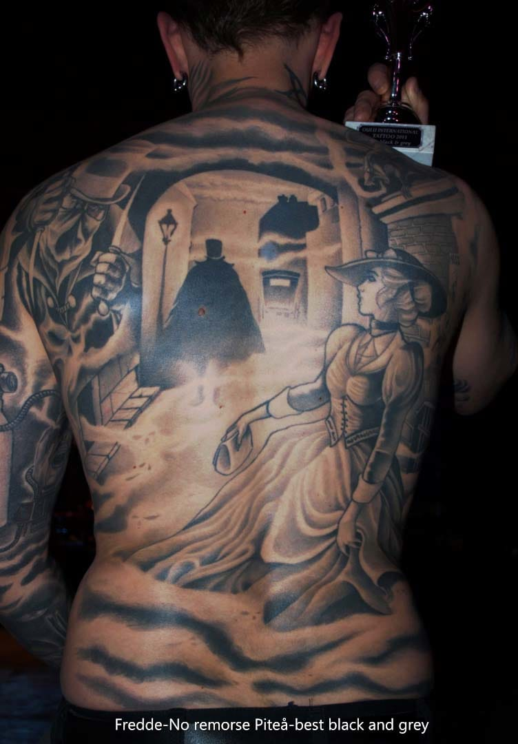 Jack the Ripper backpiece by Fredde.