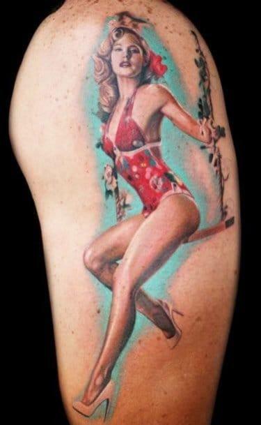 Kristen Bell as a pin-up by Rember Orellana.