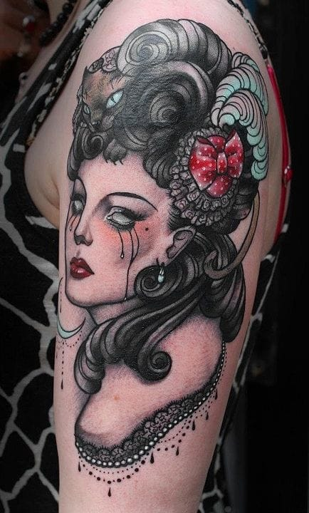 Pretty Victorian lady by Hilary Jane Peterson.