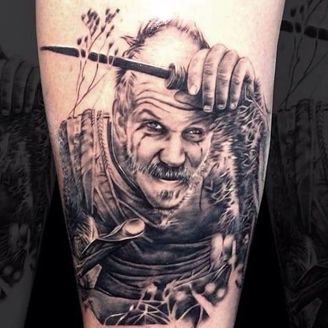 Floki tattoo by Craig Tilley.