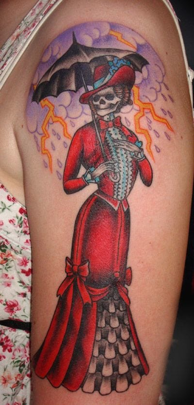 Victorian skeleton lady by Jason Lambert.
