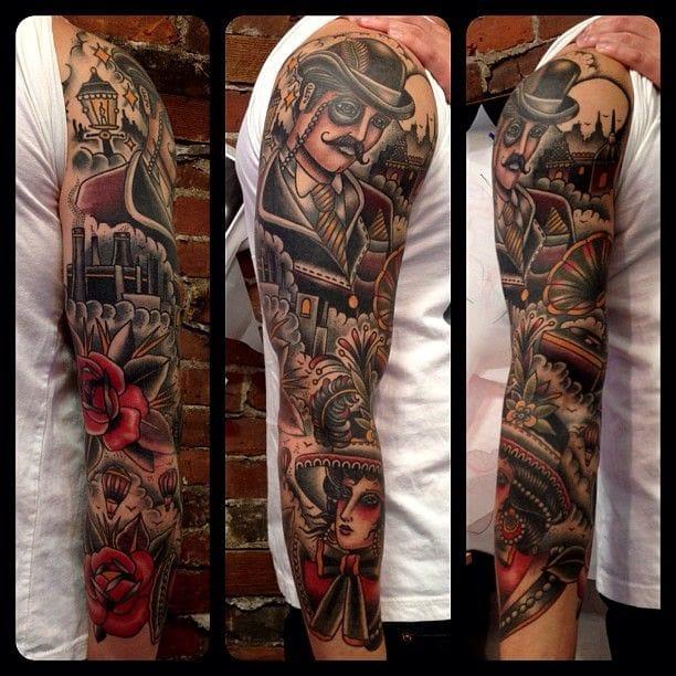 Victorian Man Tattoo D'étranges Tatoua...