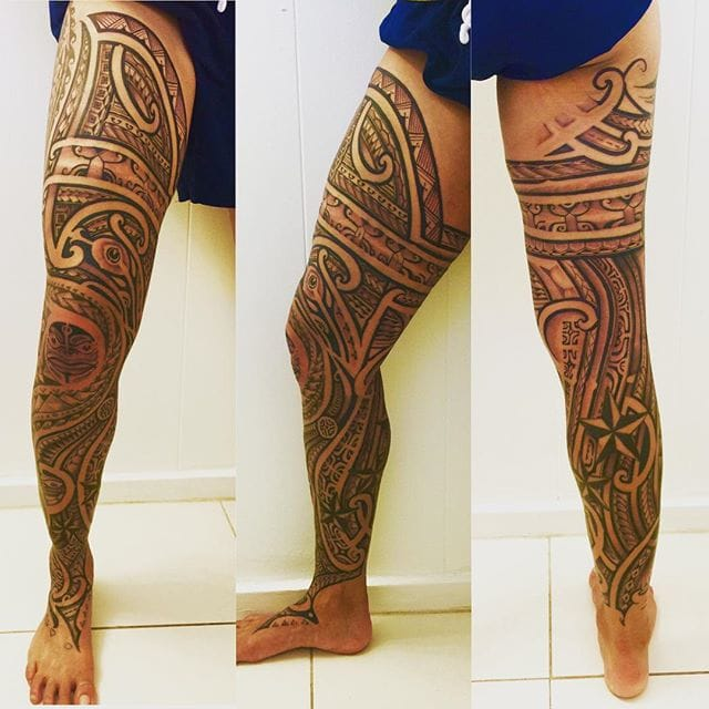 And Leland Gomez did her leg piece.
