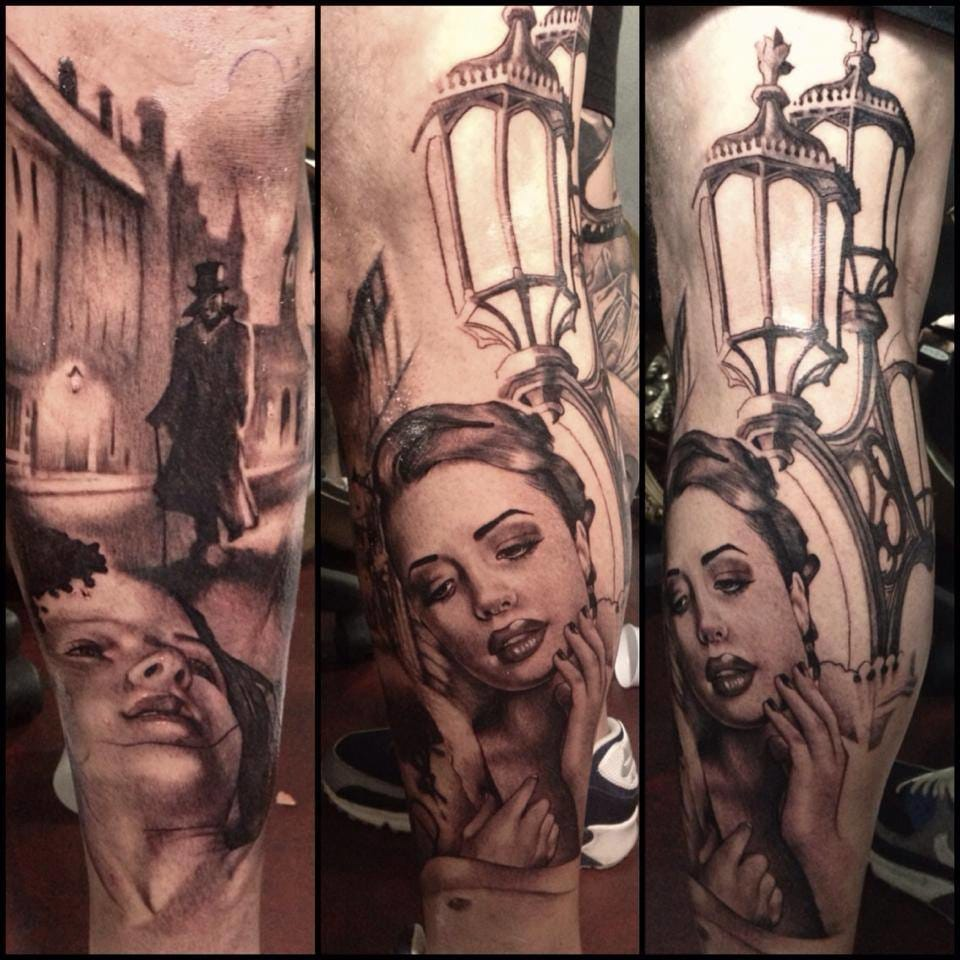 Jack the Ripper tattoo by Teneile Napoli.