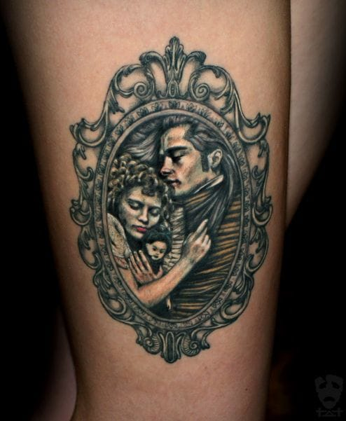 Lovely vampire tattoo by Tvia Dark.