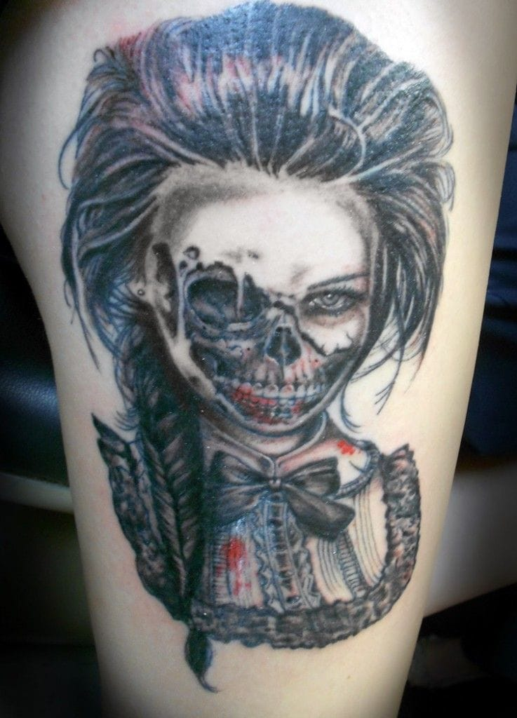 40 mysterious victorian tattoos tattoodo for Zombie tattoo machine