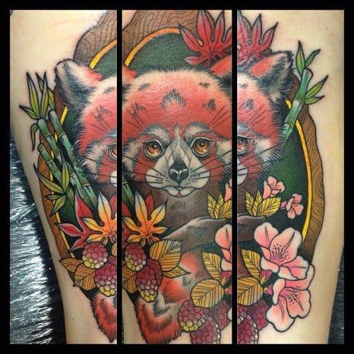 Red Panda Tattoo by Guen Douglas