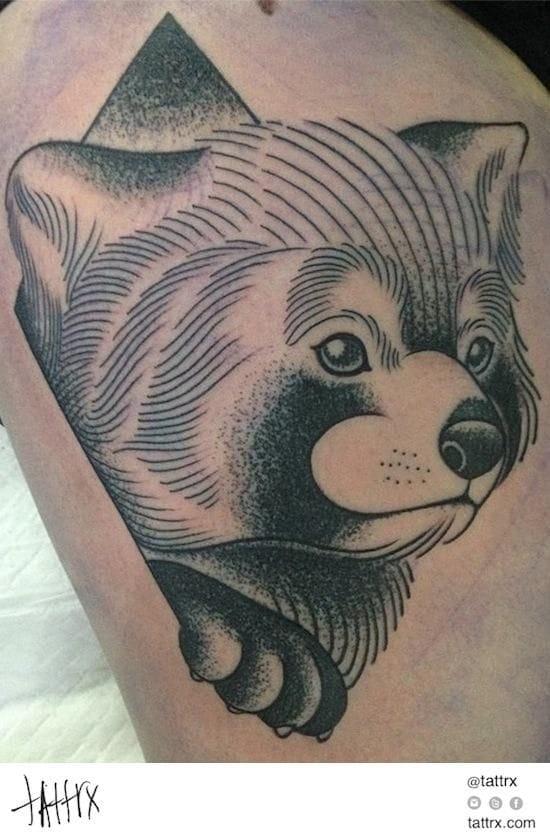 Brilliant Red Panda Tattoo by Tattrx