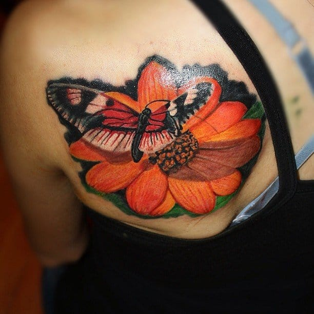 alan ramirez flower butterfly