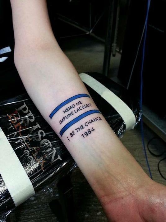 Deputy's Widow Gets A Tattoo In Honor Of People In Service
