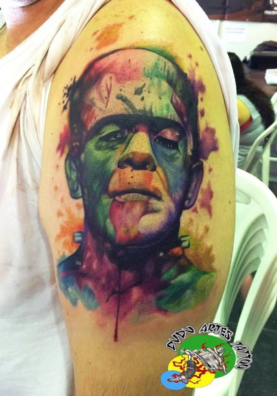 Frankenstein aquarelado do mestre das cores!