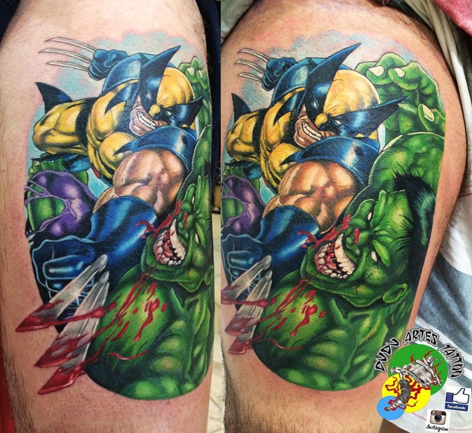 Tatuagem comics sinistra!
