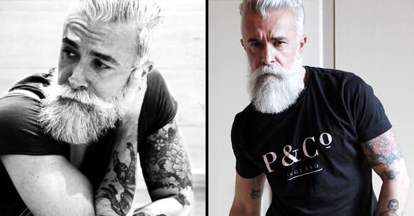 Alessandro manfredini is italy 39 s tattooed silver fox for Silver fox tattoo