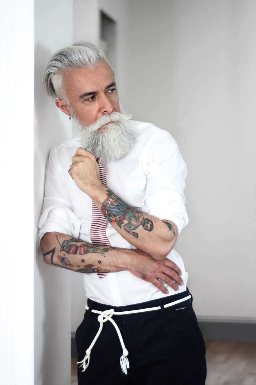Alessandro Manfredini Is Italy S Tattooed Silver Fox