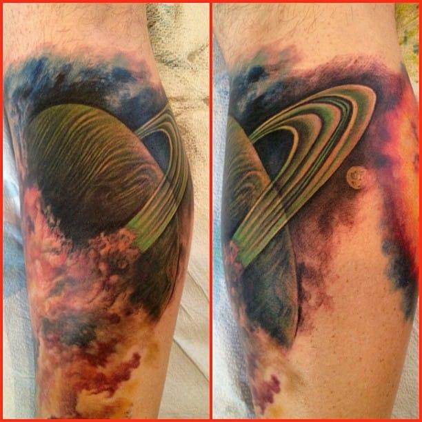 Brilliant Saturn Tattoo by Siege Art