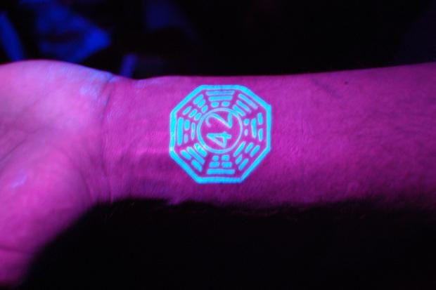 Going geek crazy with the Dharma symbol and 42 from The Hitchhikers Guide To The Galaxy, via flickr.com/thumperwabbt/