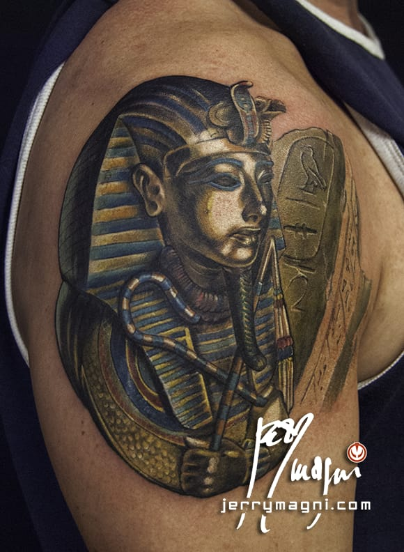 Tutankhamun Tattoo by Jerry Magni