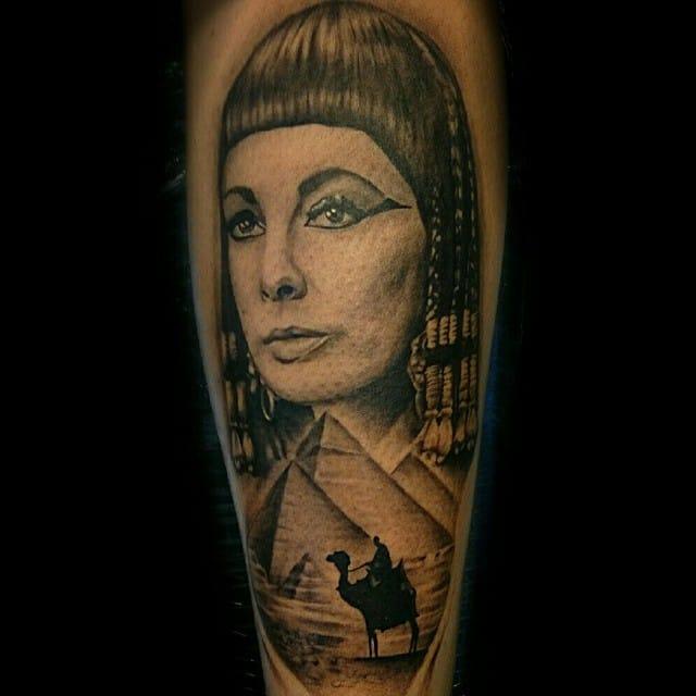 Liz Taylor as Cleopatra by Kit Maxwell.
