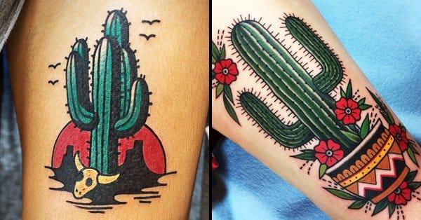 22 Prickly Cactus Tattoos Tattoodo
