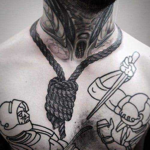 20 Foreboding Noose Tattoos